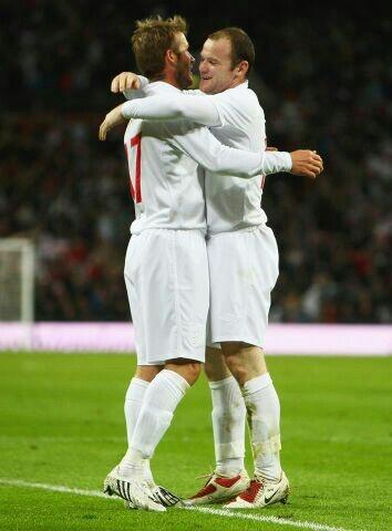 #ManchesterUnited Legends - David Beckham #7 & Wayne Rooney #10