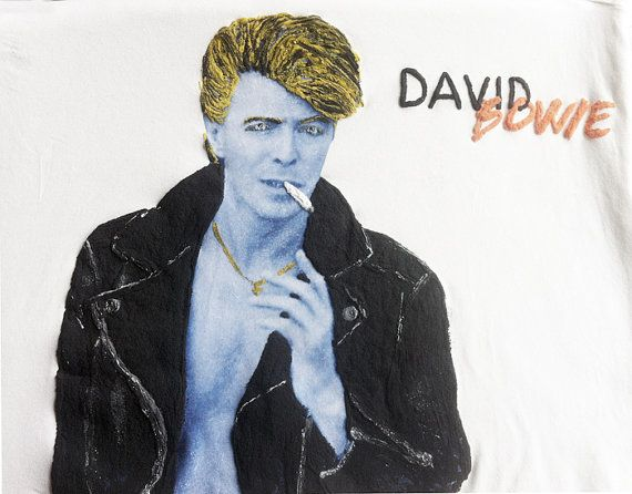 David Bowie Tshirt Shirt Top Pop Music Tshirt Painting 3D by Quor #italiasmartteam #etsyshop #etsy #shopping #giftidea @etsy