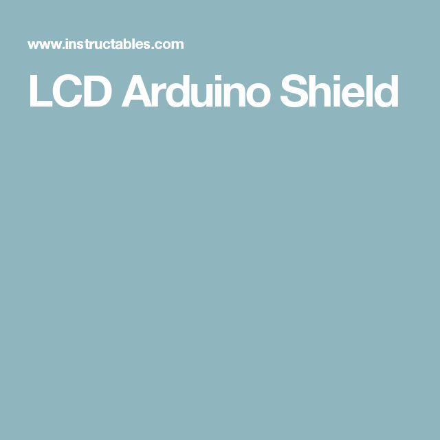 LCD Arduino Shield