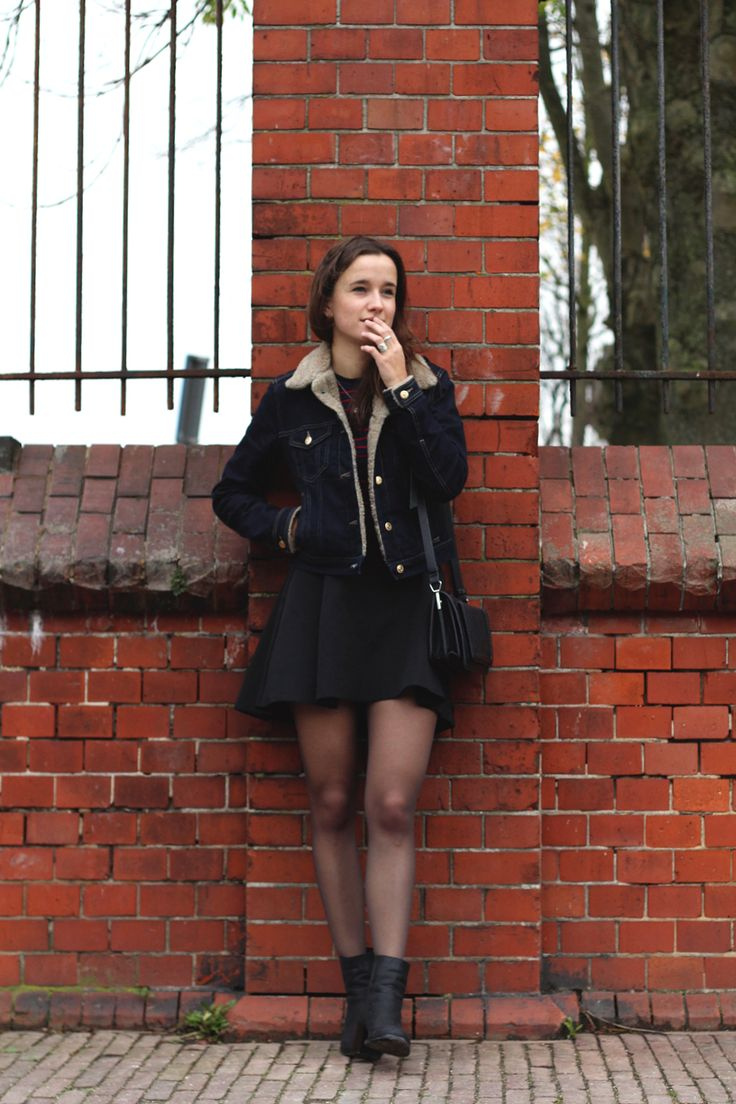 Fashiable, outfit, fashion, blogger, Amsterdam, Cross Jeans denim jacket, Subdued shirt, H&M trend skirt, Parfois bag, & Other Stories boots