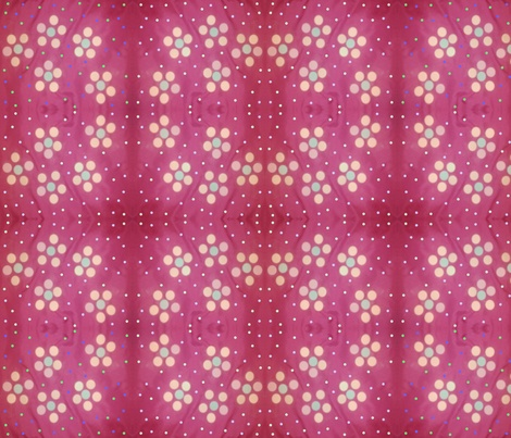 Fun Funky Pink Floral fabric by charldia on Spoonflower - custom fabric