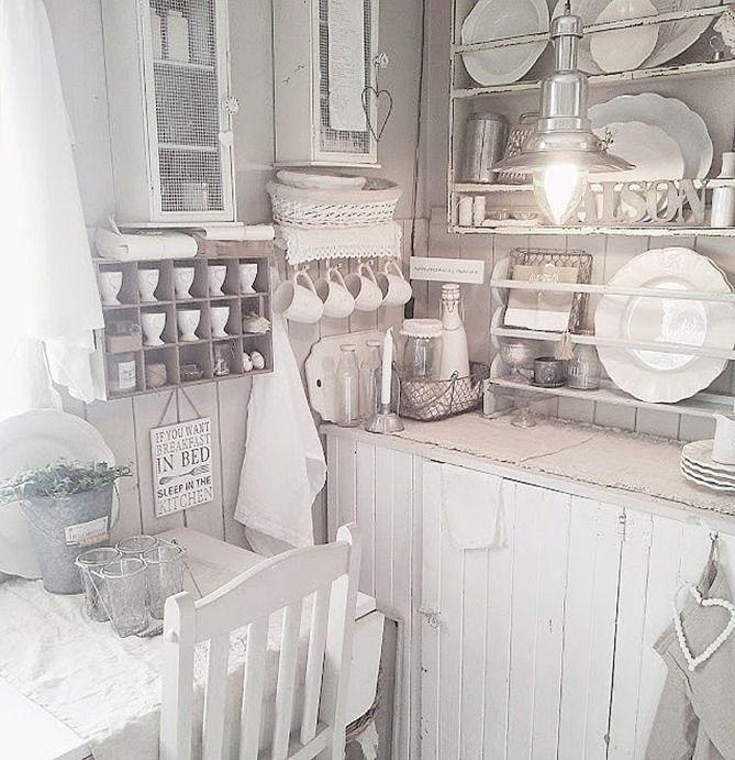 388 best shabby chic für die landhaus küche images on pinterest ... - Küche Shabby Chic