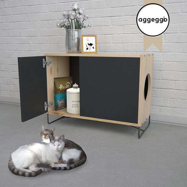 FLORA3, mueble portalitera. Para esconder la bandeja de las piedras sanitarias de tu gato.