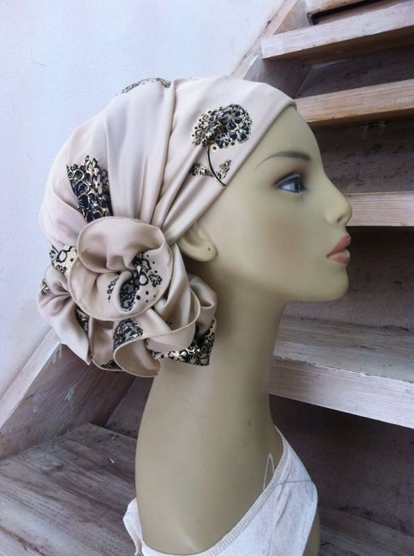 beautiful tichel scarf, this style wrap is so cute!
