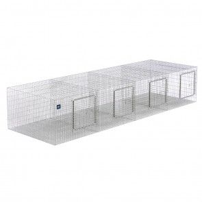 96 X 24 X 18 (4X) MODULAR WIRE RABBIT CAGE