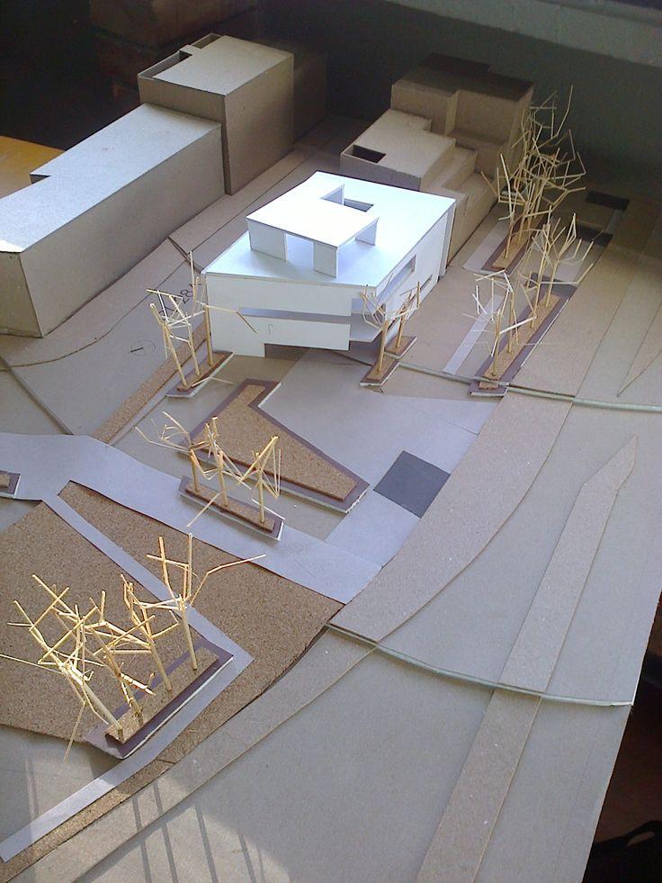 Intervención del espacio publico....maqueta con propuesta inicial