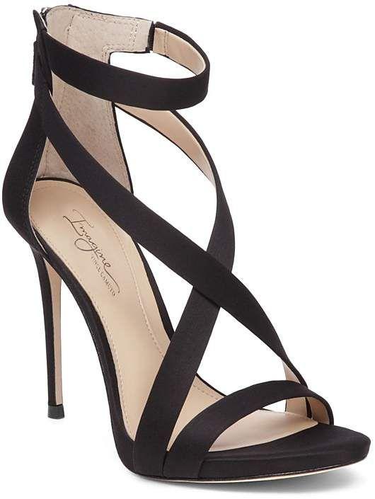 Imagine VINCE CAMUTO Devin Satin High Heel Ankle Strap Sandals #eveningdresses #sandals #satin #prom