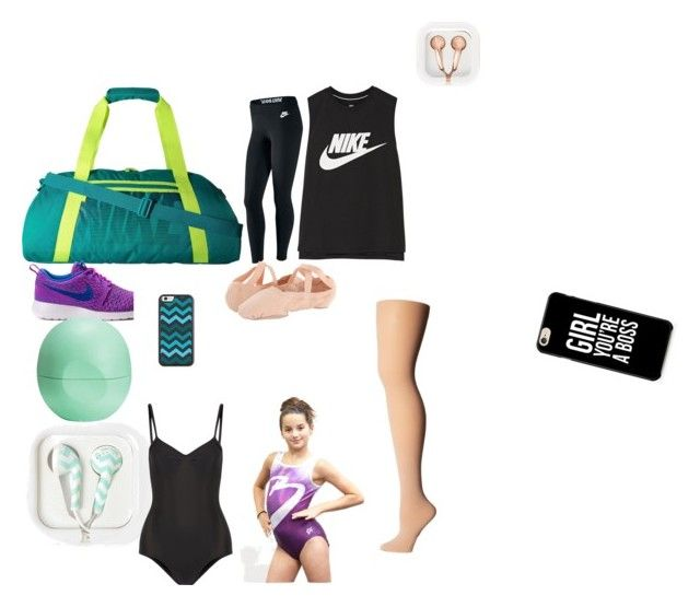 """WHAT I KEEP IN MY DANCE BAG"" by josiasashlee on Polyvore featuring NIKE, Eos, claire's, Bloch and Ballet Beautiful"