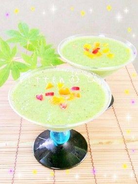 5分で出来る!! キュウリの冷製スープ|レシピブログ