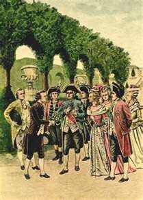 Parmentier offers a bunch of potatoes to King Louis XVI (Illustrated supplement to the Petit Journal) Introduced to France in the 16th century, the potato was not a popular vegetable.  Antoine-Augustin de Parmentier brought a bunch of potato flowers to Versailles.  King Louis XVI adorned his dress with one flower and the whole Court followed his example.  Voila!  The potato becomes more accepted in France. gnized by both farmers and consumers.