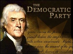 Thomas Jefferson founded the Democratic Party in 1792 as a congressional caucus to fight for the Bill of Rights and against the elitist Federalist Party. Description from sonomademocrats.info. I searched for this on bing.com/images