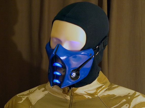 Mortal Kombat Sub-Zero Mask v.2 (MK9) with LEDs Airsoft Cosplay DJ Rave mask - Made to order -