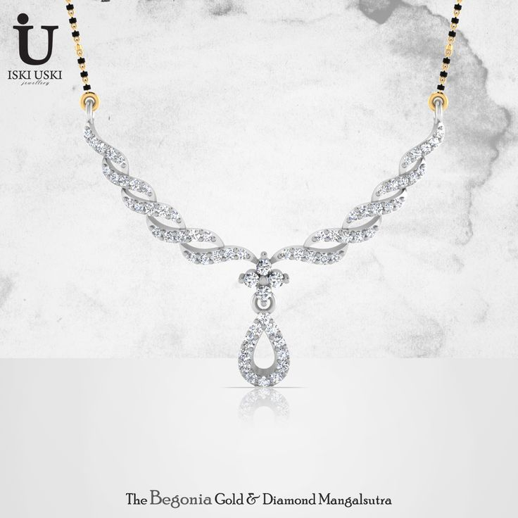 Buy designer Mangalsutras online at our online jewellery store - www.IskiUski.com Shop Now: http://goo.gl/Sk8VpM #mangalsutras #goldmangalsutra #diamondmangalsutra