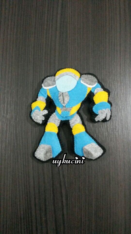 uykucini - keçe robot,magnet felt robot