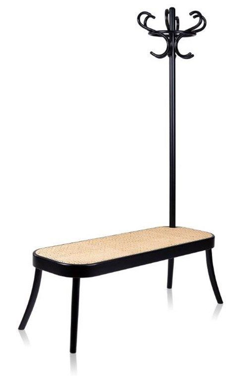 Swedish design group Front has created a combined coat rack and bench, and two tables from bent wood