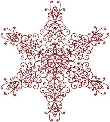 Redwork snowflake