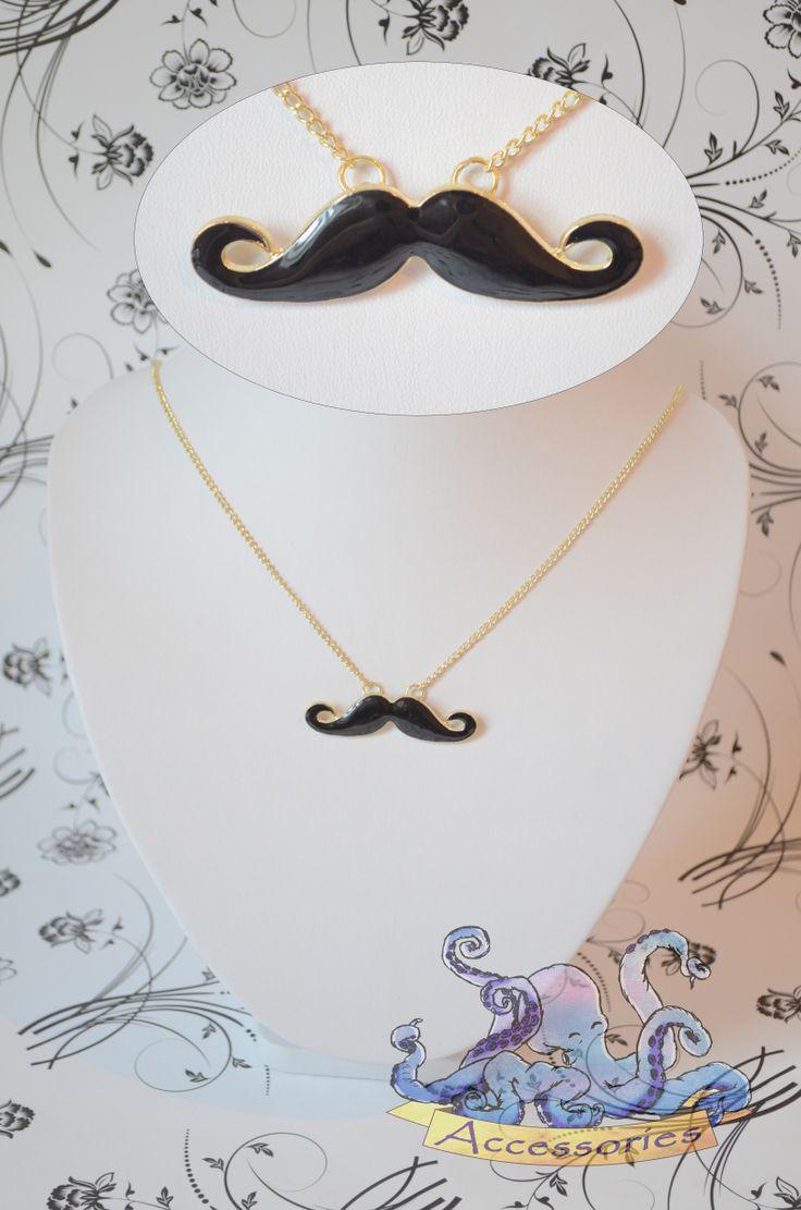 sweet moustache necklace