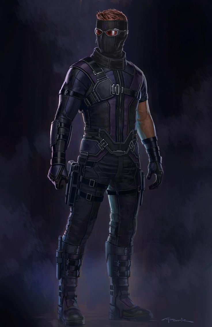 "Concept art of Hawkeye / Clint Barton from Marvel's ""Captain America : Civil War"" (2016) by Andy Park."