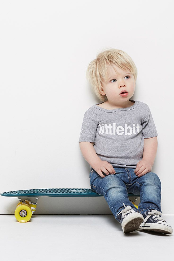 Great quality t-shirts for boys and girls 2 to 6. They'll love their littlebits. Get a #littlebit #tee at littlebit.com #boysclothing #girlsclothing #kids #kidsclothing #teesforkids #crewneck #basics #casual #graphictshirts #kidstees.