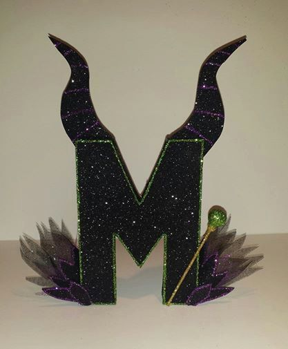 cake topper: One 8 Female Villain Maleficent Character paper by TancysCreations #Maleficent #papermache