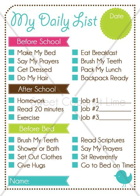 """""""To Do List"""" for the kids ~ Before School, After School, Before Bed ~ AWESOME!!"""