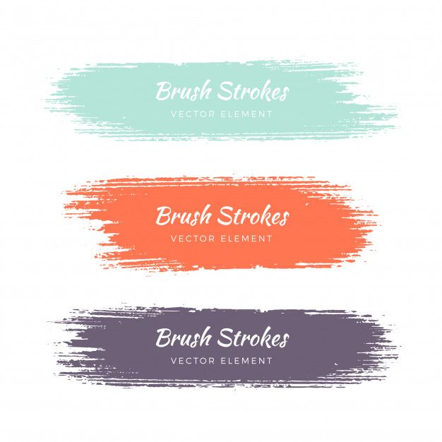 Download Abstract Watercolor Grunge Brush Stroke Set For Free