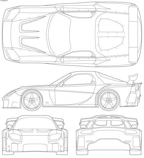 2007 Mazda RX-7 Veilside Fortune Tokyo Drift Coupe blueprint