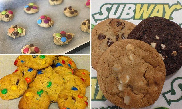 Ingredients It is everyone's favourite melt-in-your-mouth biscuit. And you can now bake up a fresh batch of Subway cookies from the comfort of your own home - just in time for the frosty arrival of Australia's winter.