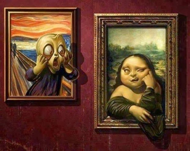 El grito, Edvard Munch. Mona Lisa