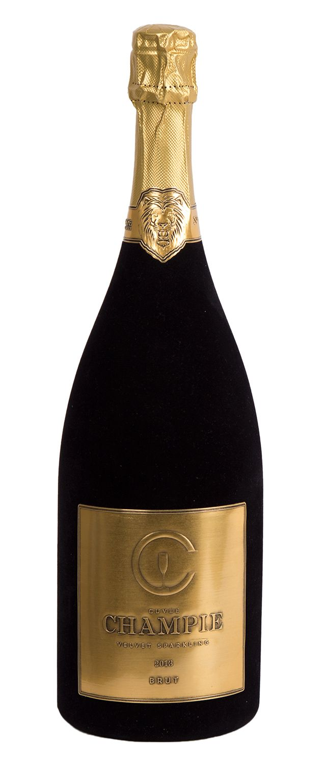 Embossed tin label by Applic'Etains. Matt gold colour, black patina. www.applicetains.com
