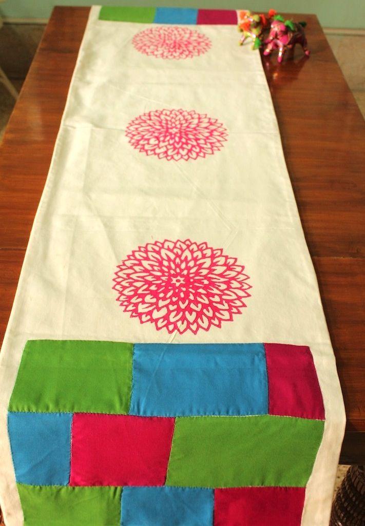 Pink Sunflower Table Runner
