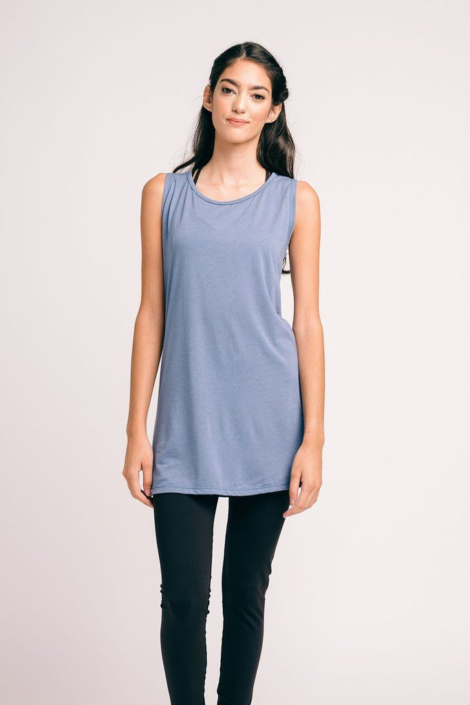The Anura Yoga Tank -- Blueis an easy-to-wear, ethically-made tank that featuresorganic bamboo, jersey-knit fabric and a flowy design that...