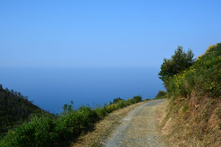Path Toward the Blue - Montaretto, Framura: me and the blue sea.