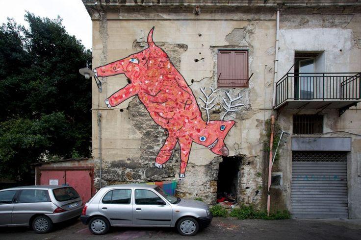 Street Art dei bambini del Borgo Vecchio: foto - Siciliafan