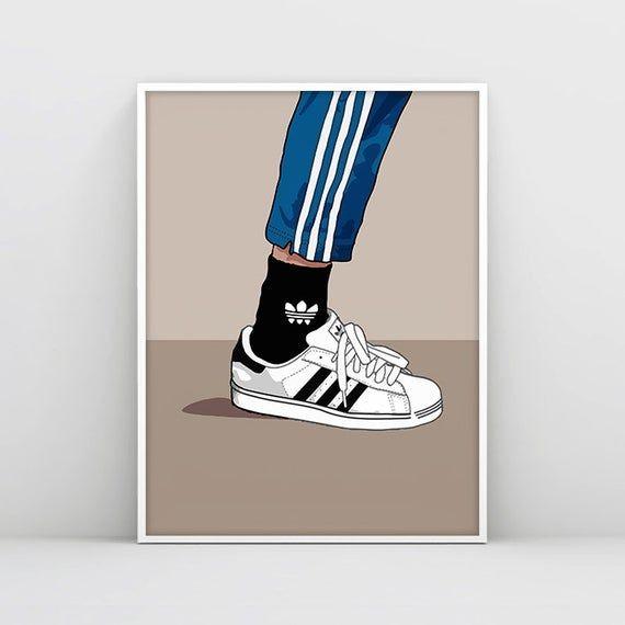 artería Aptitud Remolque  Adidas Superstar Poster, Adidas Originals Illustration, #art #print  #digital @EtsyMktgTool #adidas #supers… | Dessin hippie, Art de crayon de  couleur, Dessin basket