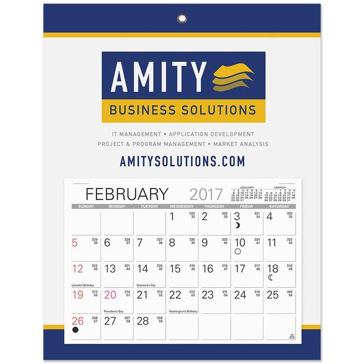 Large Printed Monthly Billboard Calendar