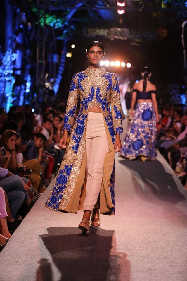 Blue Fashion Runway Collection 2015 by Manish Malhotra | Mine Forever