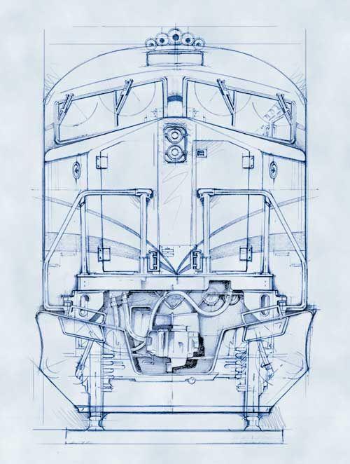 79 best images about railroad blueprints technical for Blueprint size prints