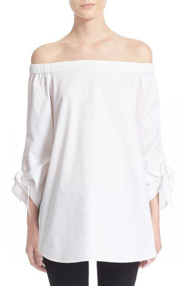 Tibi Off the Shoulder Cotton Tunic available at #Nordstrom