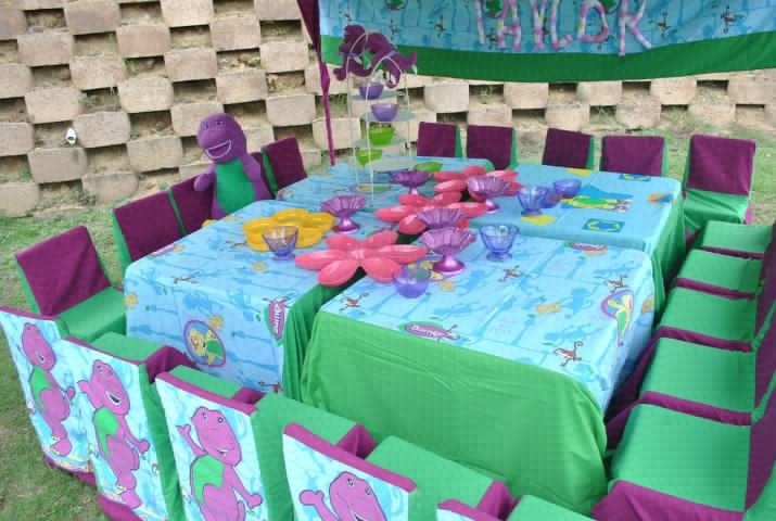 Barney Party~ Decorations ~ Table setup