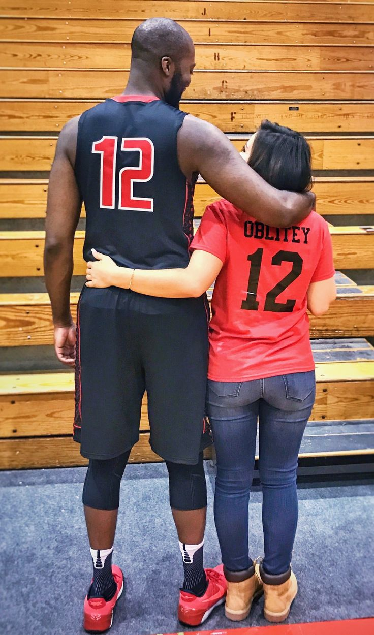 Matching shirt for his game ❤#couple #basketball #girlfriend #interracial