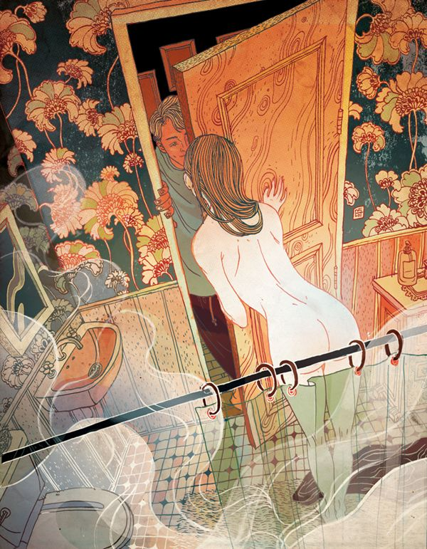 The New Yorker Fiction by Victo Ngai, via Behance