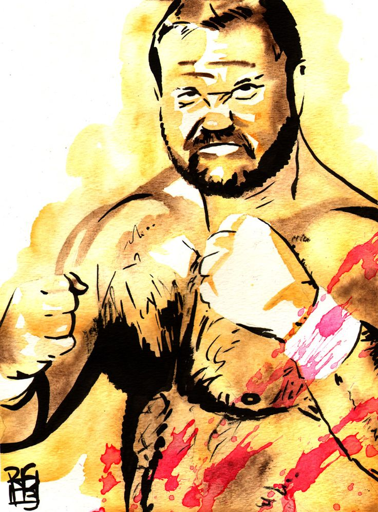 """Arn Anderson - Ink and watercolor on 9"""" x 12"""" watercolor paper"""