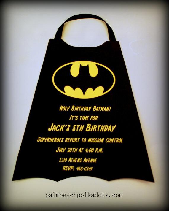 Superheroes Batman  Birthday Invitations by palmbeachpolkadots, $2.25