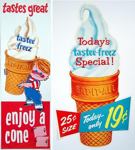 Tastee-Freez signs