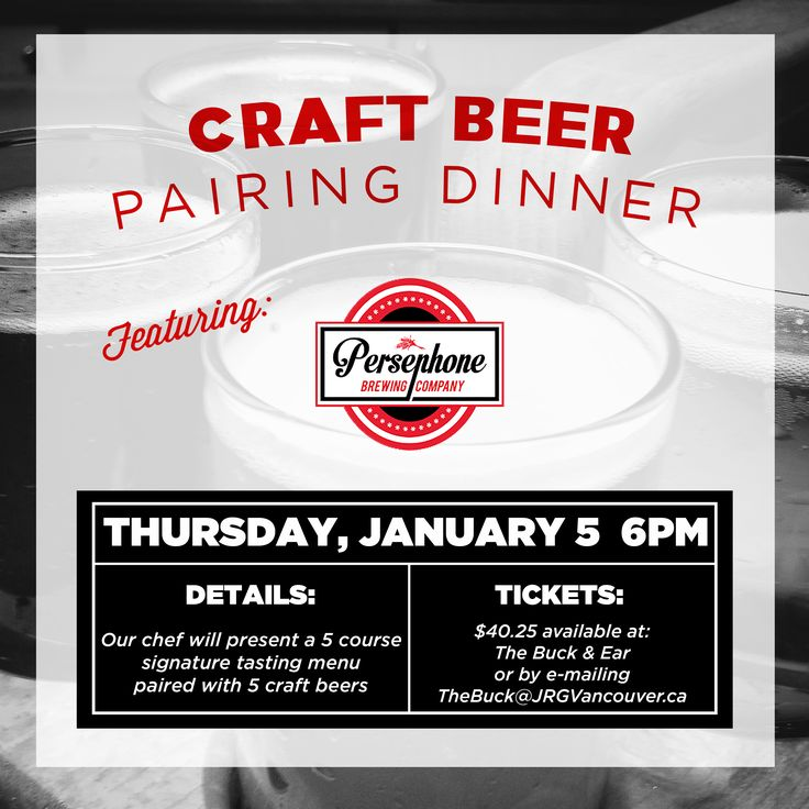 The Buck & Ear Bar and Grill Presents – A Persephone Brewing Company Craft Beer Pairing Dinner ‹ Joseph Richard Group