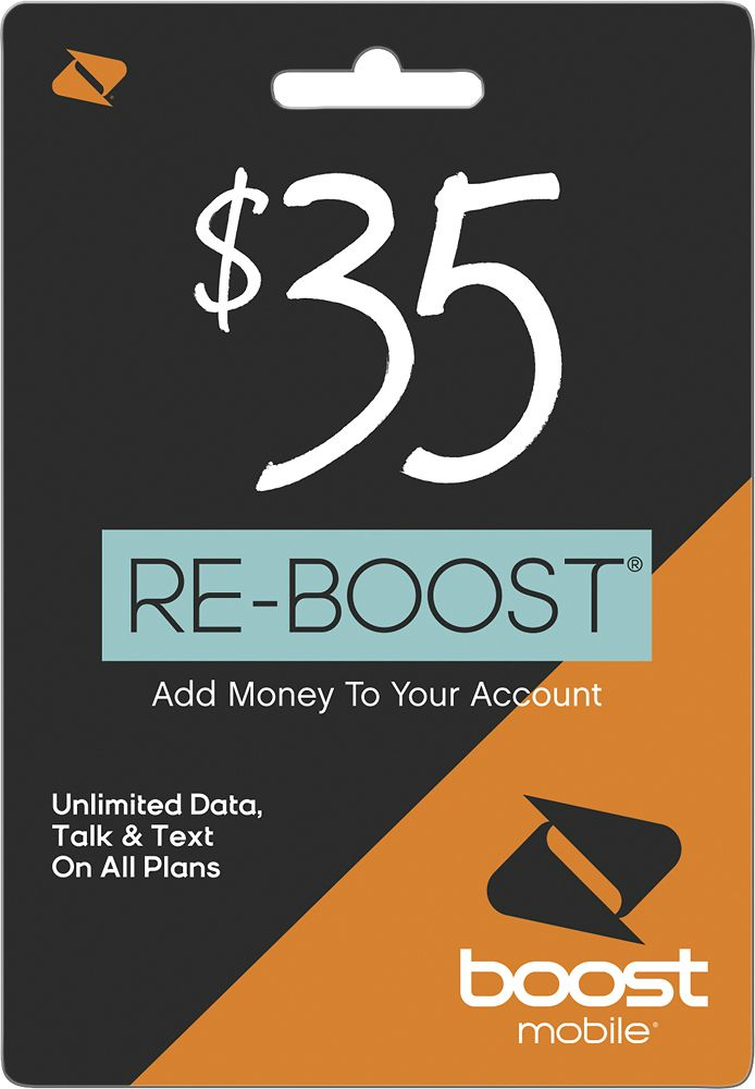 Boost Mobile - $35 Re-Boost Prepaid Phone Card, BOOST MOBILE 2016 $35