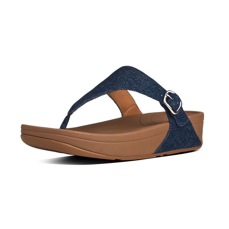 FitFlop The Skinny™ Denim French Navy #summer #sandals #ss15 http:/. Womens  Flip FlopsFitflopBlue ...