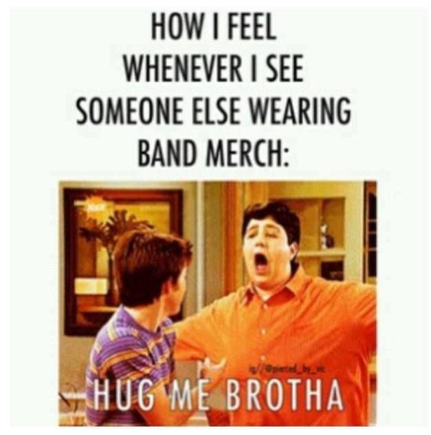 I wear band merch to find my people