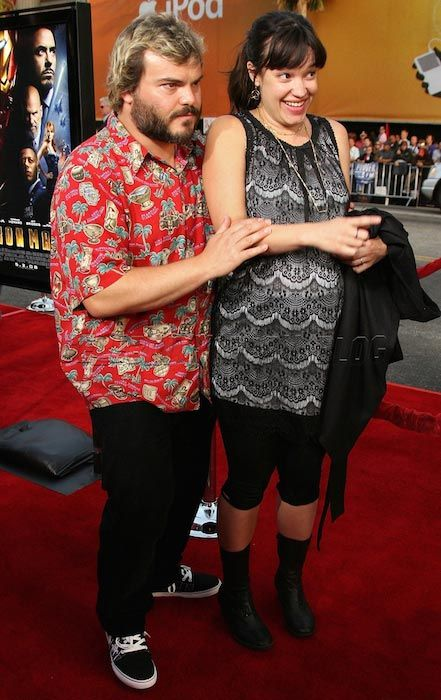 Jack Black and wife Tanya Haden...